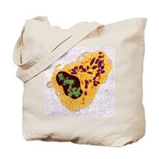 White blood cell, TEM Tote Bag