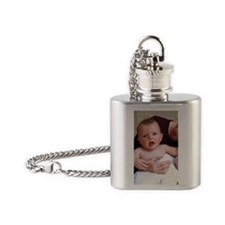 Baby after bath Flask Necklace