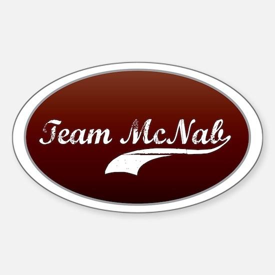Team McNab Oval Decal