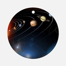 Solar system planets Round Ornament