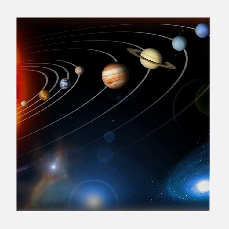 Solar system planets Tile Coaster