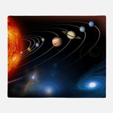 Solar system planets Throw Blanket