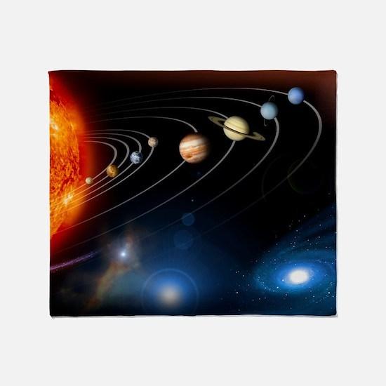 Solar system planets Throw Blanket