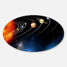 Solar system planets Sticker (Oval)