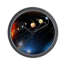 Solar system planets Wall Clock