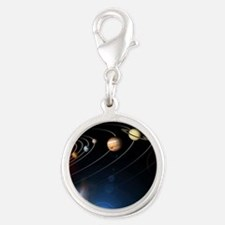 Solar system planets Silver Round Charm