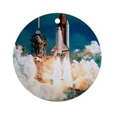 Space Shuttle launch Round Ornament