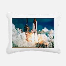 Space Shuttle launch Rectangular Canvas Pillow