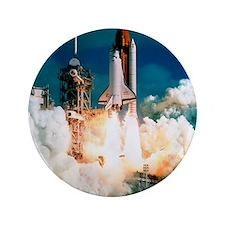"Space Shuttle launch 3.5"" Button"