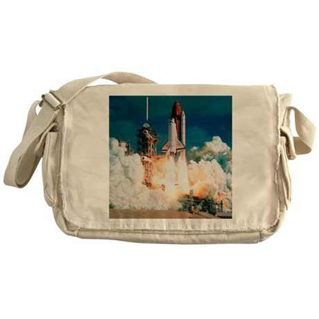 Space Shuttle launch Messenger Bag