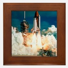 Space Shuttle launch Framed Tile