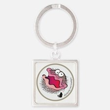 The Bearded Clam Square Keychain