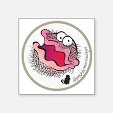 """The Bearded Clam Square Sticker 3"""" x 3"""""""