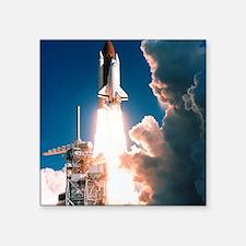 "Space Shuttle launch Square Sticker 3"" x 3"""