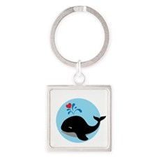 WHALE11 Square Keychain