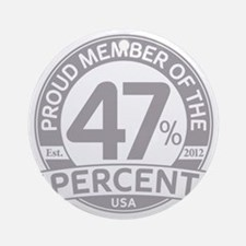 Member 47 Percent Round Ornament