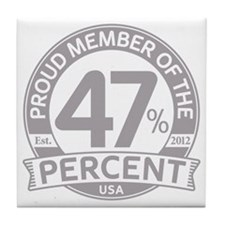 Member 47 Percent Tile Coaster