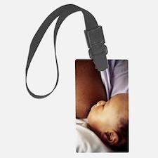 Baby boy breastfeeding Luggage Tag