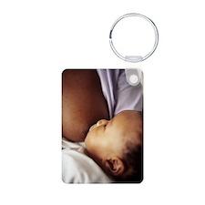 Baby boy breastfeeding Keychains