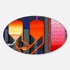 Oil refining process Sticker (Oval)