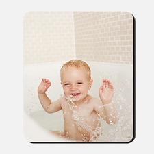 Bathing child Mousepad