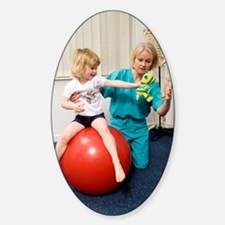 Balance and stability physiotherapy Sticker (Oval)