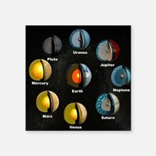 "Planets' internal structure Square Sticker 3"" x 3"""