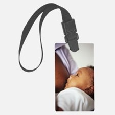 Baby boy breastfeeding Luggage Tag