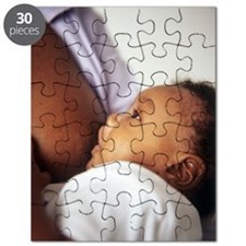 Baby boy breastfeeding Puzzle