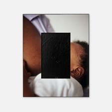 Baby boy breastfeeding Picture Frame