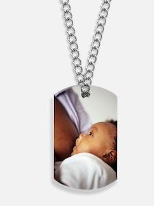 Baby boy breastfeeding Dog Tags