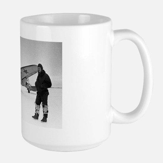 Soviet Pe-2 bomber and pilot, 1944 Large Mug