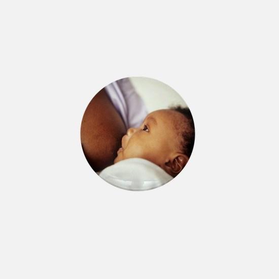Baby boy breastfeeding Mini Button
