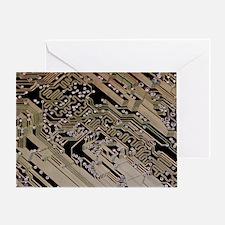 Printed circuit board, computer artw Greeting Card