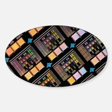 Production of integrated circuits Sticker (Oval)