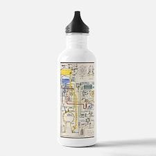 V-2 rocket pipe plan Water Bottle