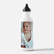 Baby boy wrapped in a  Water Bottle