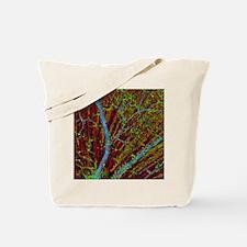 Retina blood vessels and nerve cells Tote Bag