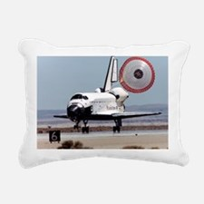 Space shuttle landing Rectangular Canvas Pillow