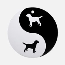 Yin Yang Lab Ornament (Round)