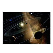 Saturn and solar system Postcards (Package of 8)