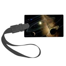 Saturn and solar system Luggage Tag