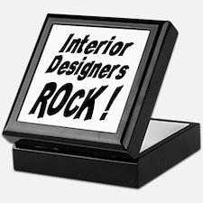 Interior Designers Rock ! Keepsake Box