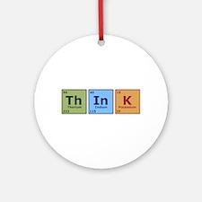 Think 2 Ornament (Round)