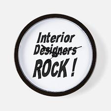 Interior Designers Rock ! Wall Clock