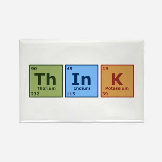 Think 2 Rectangle Magnet