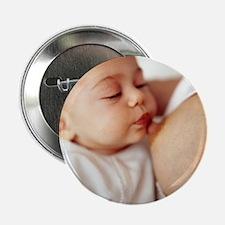 "Baby girl breastfeeding 2.25"" Button"