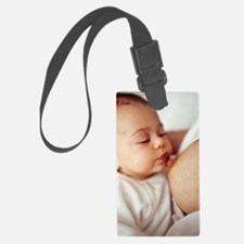 Baby girl breastfeeding Luggage Tag