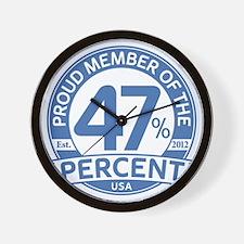 Member 47 Percent Wall Clock