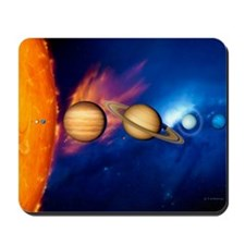 Sun and its planets Mousepad